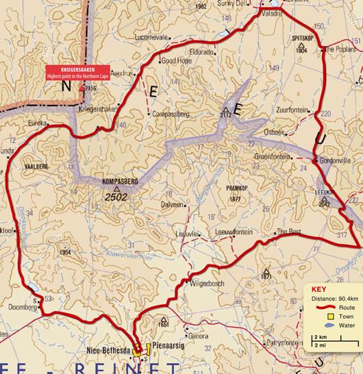 Compassberg MTB route - Nieu Bethesda